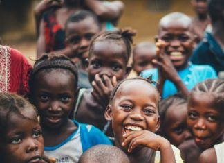 Group of Africa children smiling